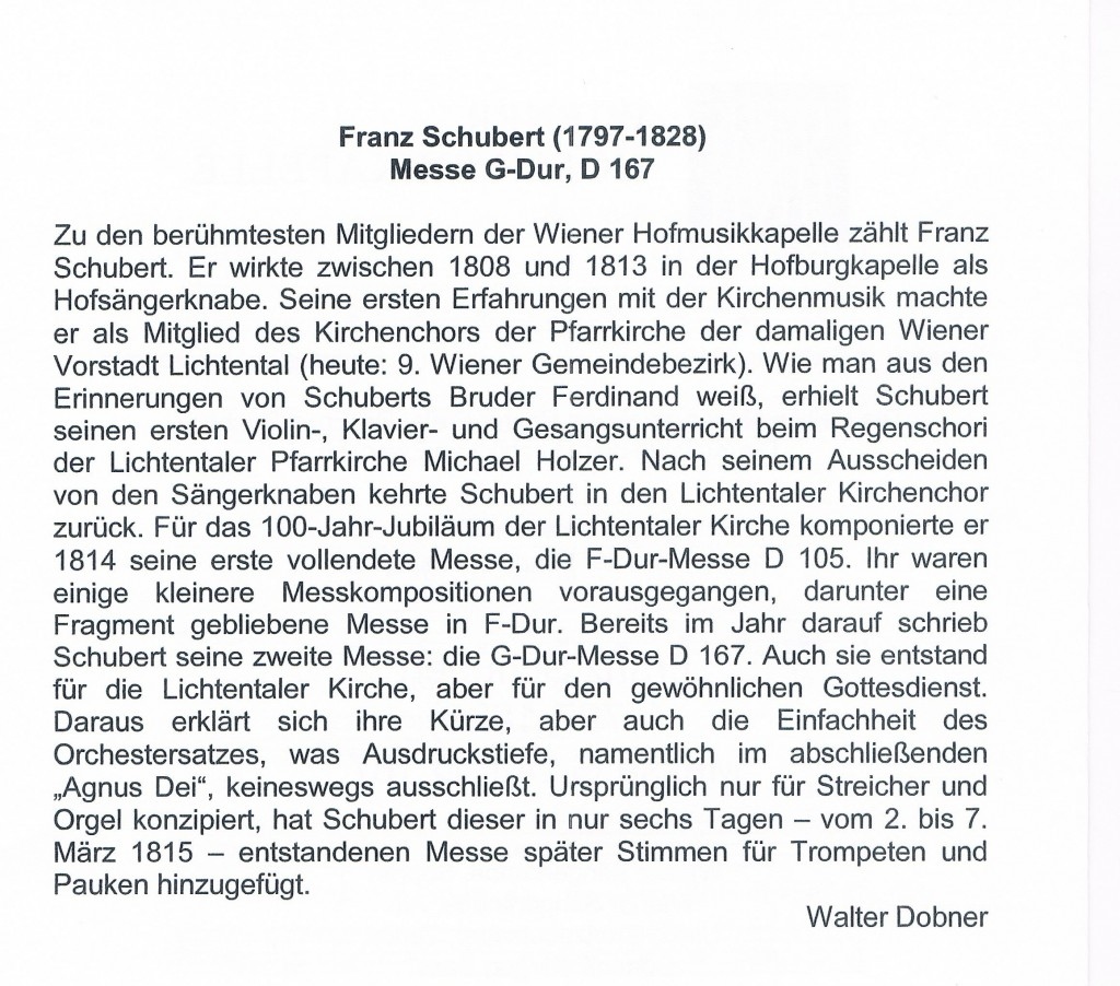 180215 Text Franz Schubert Messe G Dur